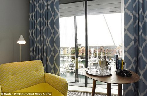 Not-so close quarters: The rooms are quite large and have beautiful marina views