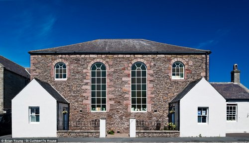 Welcoming: St Cuthbert's House in Northumberland, a converted church, has been named the Best B&B in Britain