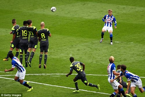 He is starting to show his true potential in aHeerenveen side performing above expectation