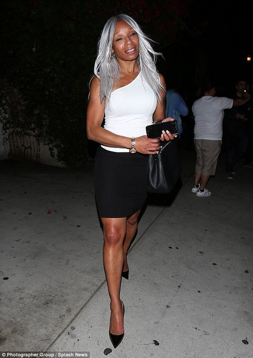 Let's go: Mary J. Blige was seen leaving the event later that night