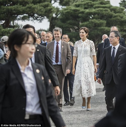 The royal visit has been arranged to celebrate150 years of diplomatic ties between Denmark and Japan