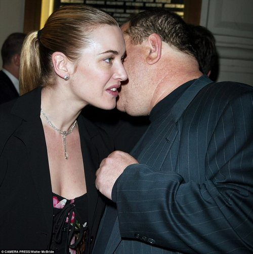 A word in your ear: Whispering to Kate Winslet in 2003