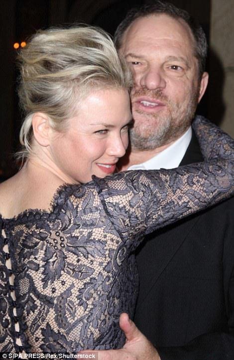 It¿s a wrap: Renee Zellweger cuddles Weinstein in 2008