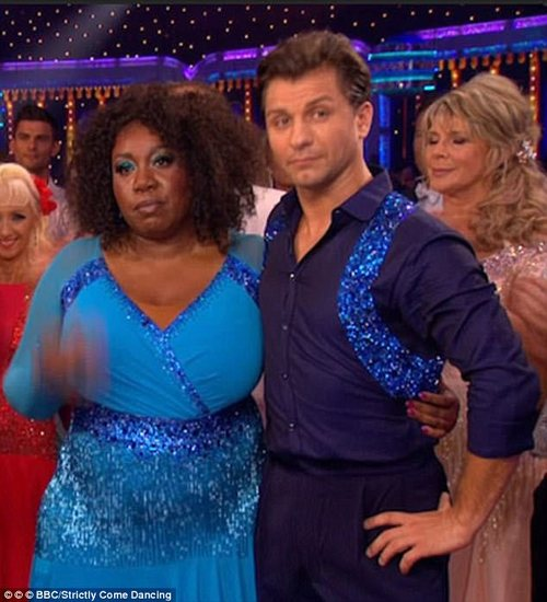 Star: The actress became the first celebrity voted off this year's Strictly Come Dancing