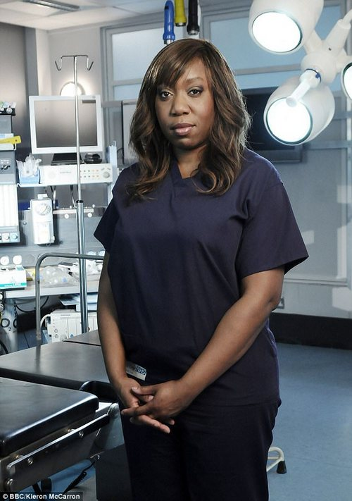 Advice: The Holby City actress, pictured, urged victims to speak out against harassment