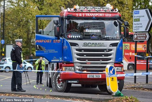 The cyclist was crushed under a heavy goods vehicle and taken to hospital with serious injuries