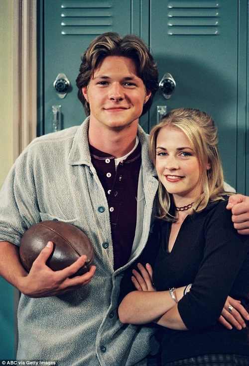 Happy ending: Harvey (pictured with Sabrina on the show in 1996) returns in the series finale as Sabrina is about to marry another man and is revealed to be her true soul mate