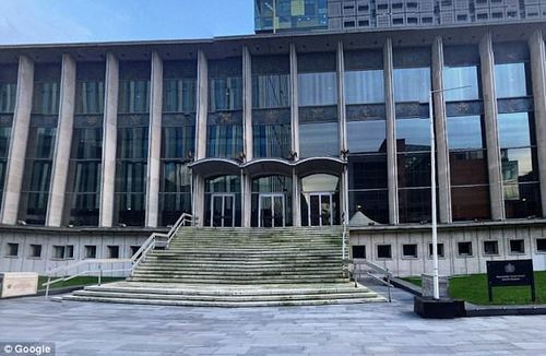 Maidment, from Salford, was found guilty of murder and was handed a whole life tariff in prison, at Manchester Crown Court (pictured), today