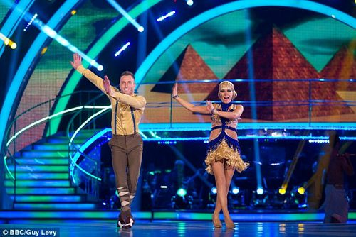 Balance: She then added: 'I've never been a relationship where I could give up work' (pictured on Strictly)