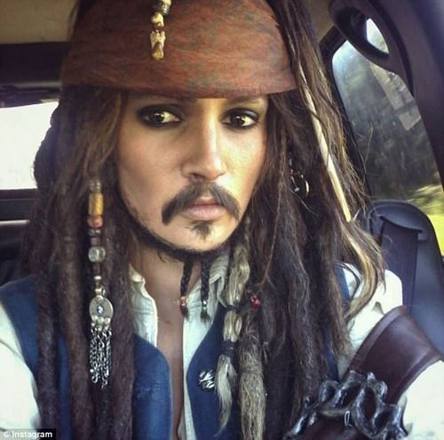 Is that Johnny Depp? Alyson has also made a convincingJack Sparrow from Pirates of the Caribbean