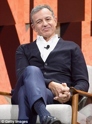 Robert Iger (above), the CEO of ESPN's parent company, Disney, said he decided against firing Hill because he took into account the context of her statements about Trump
