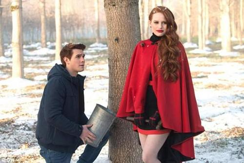 Fiery character: After years of being bullied, Madelaine has gone on to play a mean girl on Riverdale