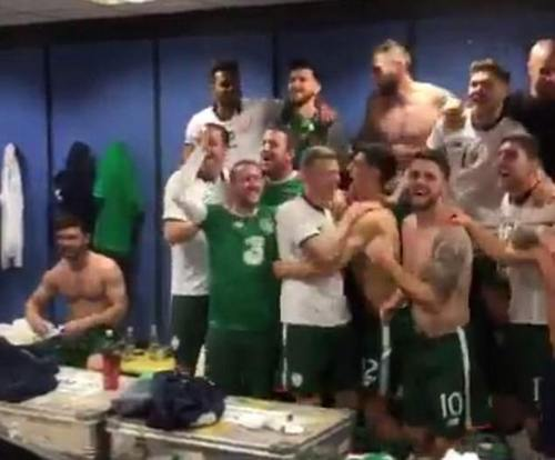 Jon Walters shared a video of Republic of Ireland's post-match celebrations