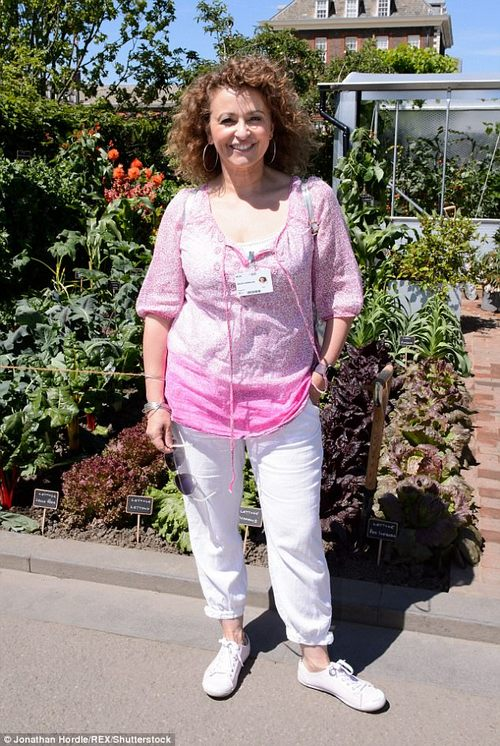 Funny girl:Nadia (above at the Chelsea Flower Show in May), often shares humorous clips to her social media pages alongside best pal Kaye Adams