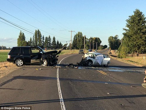 The crash happened on Sunday afternoon near Salem, Oregon, when a Land Rover driven by Garcia collided head-on with a Buick Century driven by Lisette Medrano-Perez