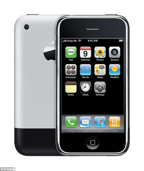 Sir Jony Ive has led Apple's design team since 1996, and was responsible designing the iconic look and feel of the revolutionary iPhone (pictured) in 2007. But the new interview suggests he sees a dark side to these products