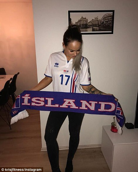 Captain AaronGunnarsson's wife captioned her photo 'We are going to Russia'