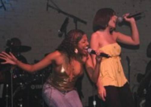 Aimee Bento (right) performing in 2008 met McGowan when he was her drama teacher