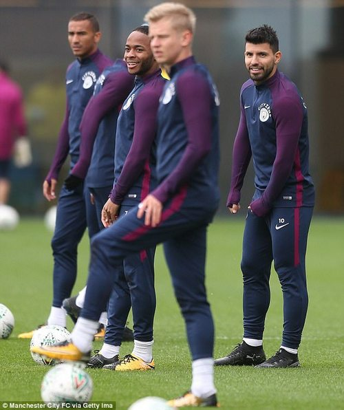 City stars prepare for the Wolves clash at their training ground - using Mitre Delta EFL balls