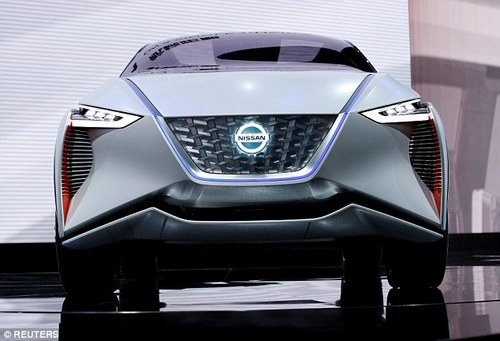 Nissan is expected to extend the all-electric LEAF range beyond the IMx seen here