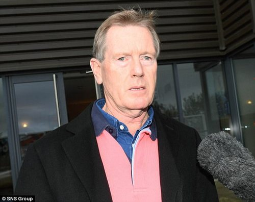 Chairman Dave King speaks to reporters after leaving the meeting at Ibrox on Thursday
