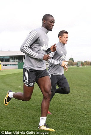 Bailly (left) is expected to return this weekend