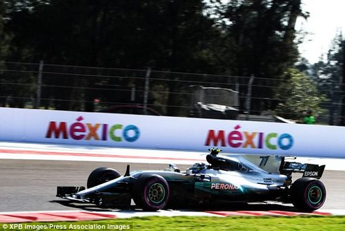 Valtteri Bottas was fastest for Mercedes during first practice for the Mexican Grand Prix