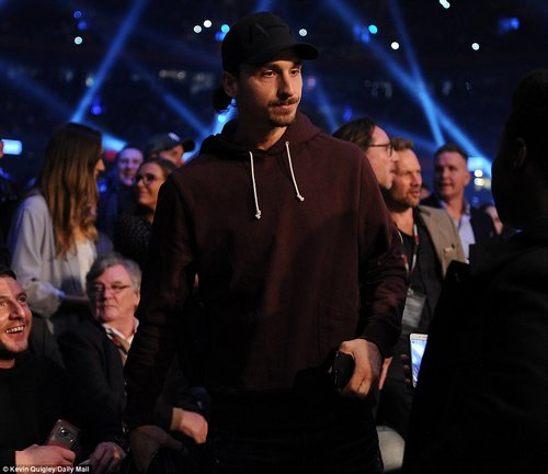 Ibrahimovic heads off to take his place in the front rows at the Principality Stadium to watch the blockbuster unfold