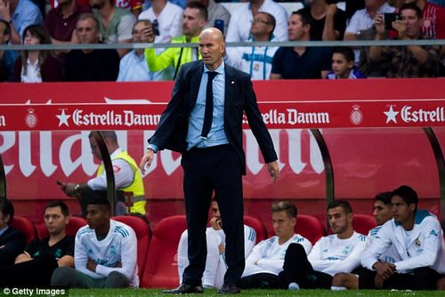 Zidane takes his team to Wembley to face Tottenham in the Champions League on Wednesday
