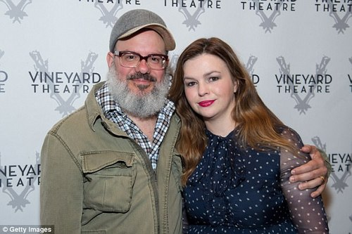 Love in her life: Amber is married to her fellow actor David Cross (pictured)