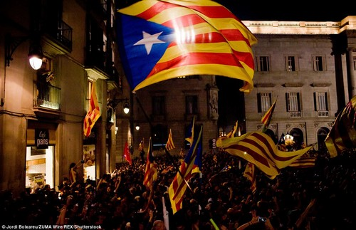 """The government and Spain's Constitutional Court have both said the secession bid was illegal, and after Friday's independence vote, Rajoy said it was a move that """"not only goes against the law but is a criminal act'"""