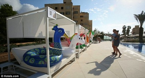Quirky: The rescue centre, at Spain's Hipotels Gran Playa de Palma, opened this week