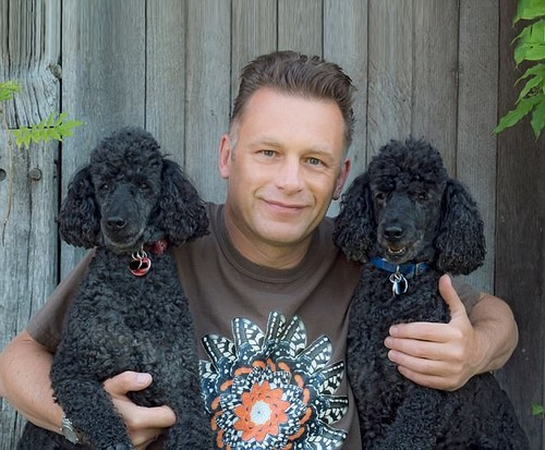Springwatch presenter Chris Packham (pictured) has said his poodle Scratchy (pictured with his late brother Itchy) is the 'most important creature in his life'