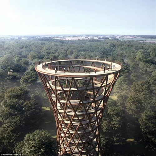 Top floor: The walk follows and crosses a creek, lakes and wedland and gives a 360° panorama view of the surroundings