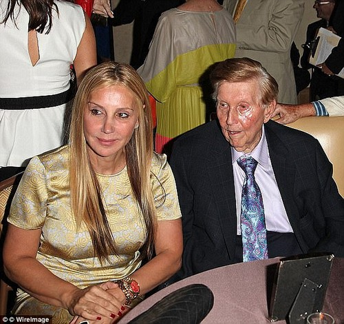 Sumner Redstone's ex-girlfriend, Manuela Herzer (left), 54, will not be moving into the billionaire's $3.75 million apartment he promised her upon his death. Justice Erika Edwards ruled Wednesday that Herzer 'has no ownership rights in the apartment'