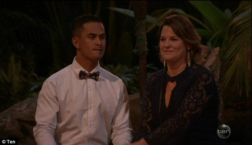 The nerves were kicking in: The last man standing: After making it to the top two, Jerricho was faced with tough and grueling questions from the jury about why he deserved the $500,000 cash prize