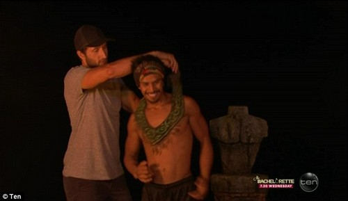 Champion: With Jericho crowned as winner of the challenge he gained immunity and his next task was to decide who he would take with him to the finale