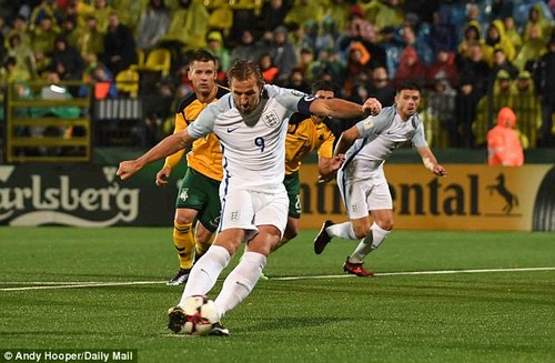 Harry Kane scored the only goal as England won 1-0 in Lithuania on Sunday evening