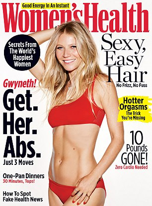 Gwyneth Paltrow appeared on the front cover of a recent edition of Women's Health