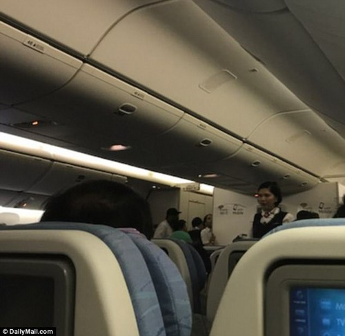 The male passenger fell ill around two-and-a-half hours before the Philippines Air flight PR102 landed at LAX on Tuesday evening, sources told DailyMail.com