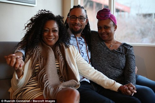 No hard feelings here! Kenya (far left)revealed: 'Carl's girlfriends are interesting. I get along with his partners who have so much common sense they don't try to push me out of my place, but for the others it is more challenging'