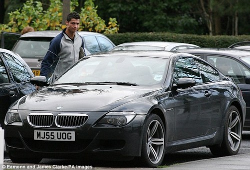 Two years later, Ronaldo's ride was a suave BMW M6 at the age of 20 years old