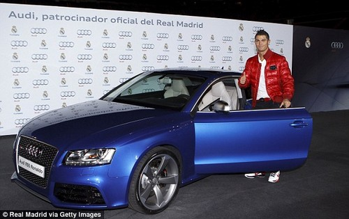 Ronaldo has been gifted a number of Audis - including this Audi RS5 - while at Real Madrid