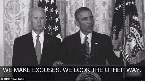 Words come back: The Republicans are releasing an attack ad focusing on Obama's failure to speak out despite a White House address on the issue of sexual assault