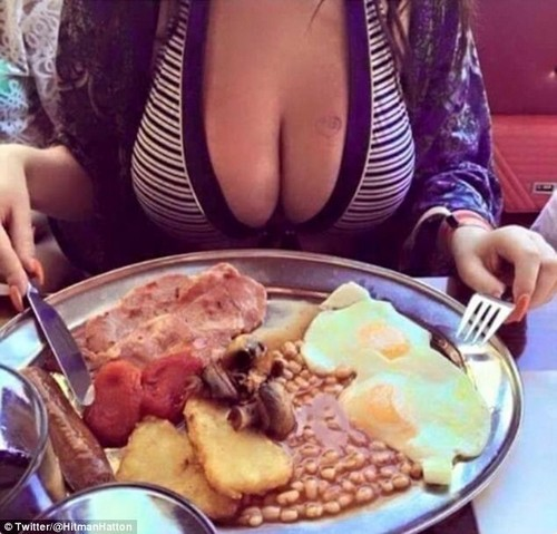 Ricky Hatton's full English breakfast caught plenty of attention online... but not for the food