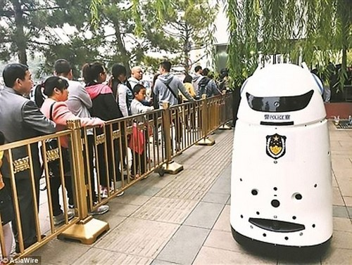It may sound like the plot from the latest science fiction blockbuster, but police robots have taken to the streets of Beijing to control crowds