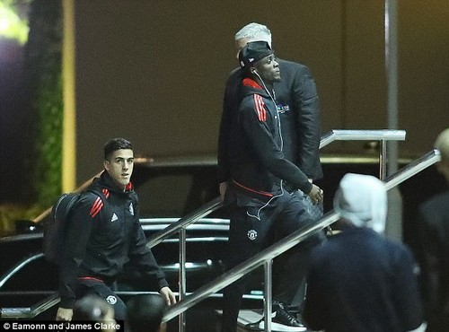 Eric Bailly, who returned to the United side on Saturday, checks in at the city centre hotel
