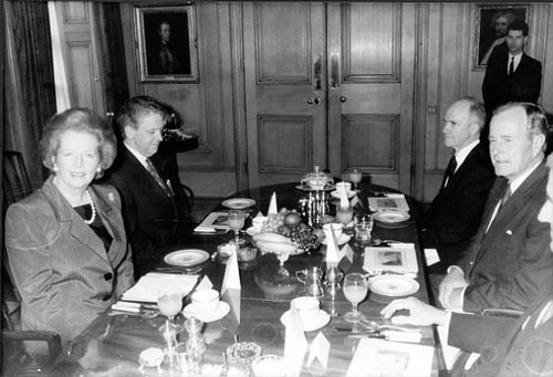 Margaret Thatcher¿s closest adviser Charles Powell (pictured together, left) told her she should not fight another election after she won a third term