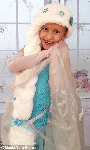 Let it go! These duo chose to channel Princess Elsa long white plait from Disney's Frozen