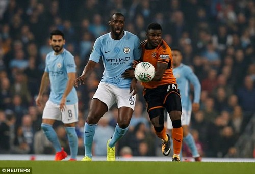 Yaya Toure has joined his manager in blasting the Mitre ball used in the Carabao Cup